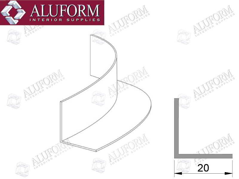 Aluminium Wall Angles Amp Trims Aluform Interior Supplies