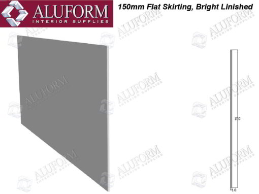 Aluminium Flat Skirting Bright Linished